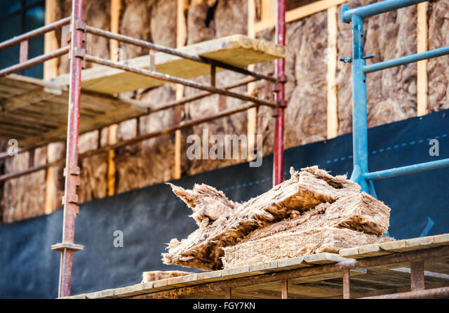 Rockwool stock photos rockwool stock images alamy for Wool house insulation