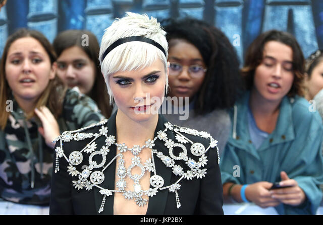 London, UK. 24th July, 2017. Cara Delevingne, Valerian and The City of a Thousand Planets - European film premiere, - Stock Image