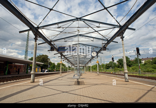 Historic railway station canopy roof Opladen Germany. - Stock Image & Railway Station Canopy Stock Photos u0026 Railway Station Canopy Stock ...