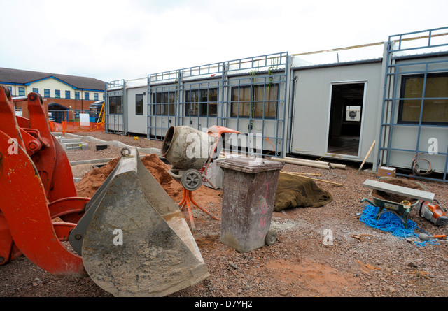 Temporary Construction Site Office Stock Photos ...