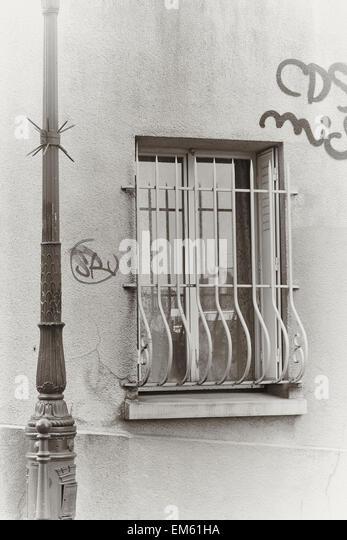 Wrought Iron Window Grill Stock Photos & Wrought Iron Window Grill ...