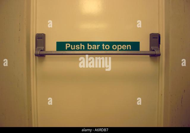 Fire Exit Door Push Bar Stock Photos Amp Fire Exit Door Push