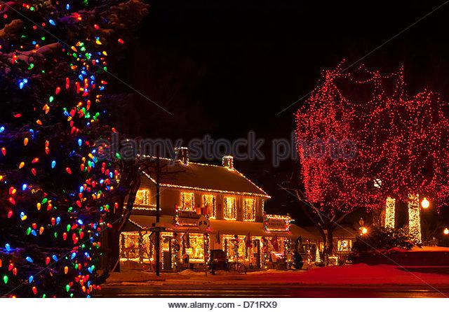 christmas light house usa