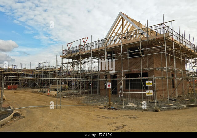 New build home construction uk stock photos new build for Home building sites