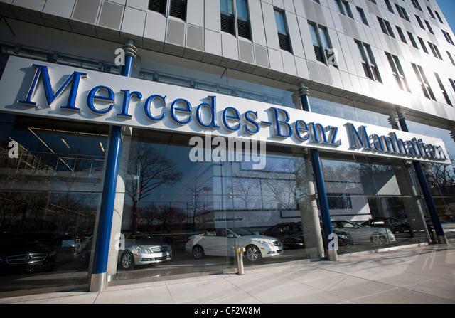 Mercedes benz manufacturer stock photos mercedes benz for Manhattan mercedes benz dealer
