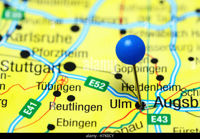 Pinned On Map Germany Stock Photos Pinned On Map Germany Stock - Germany map ulm