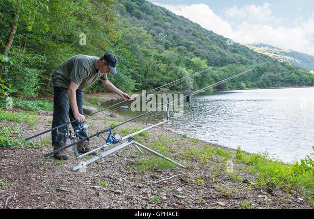 Carp rod stock photos carp rod stock images alamy for Banks lake fishing
