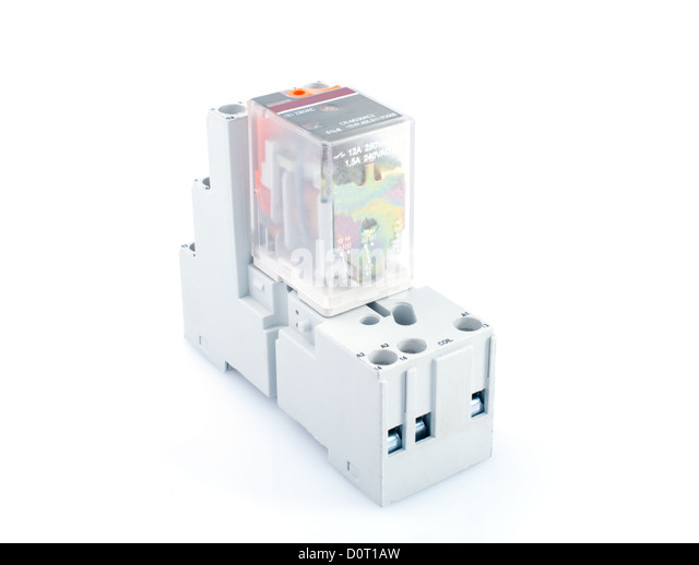 Electrical Relay Switch Stock Photos Electrical Relay Switch - Electromagnetic relay switch