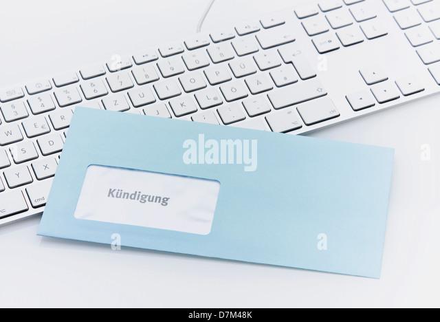 blue letter dismissal on keyboard stock photos & blue letter