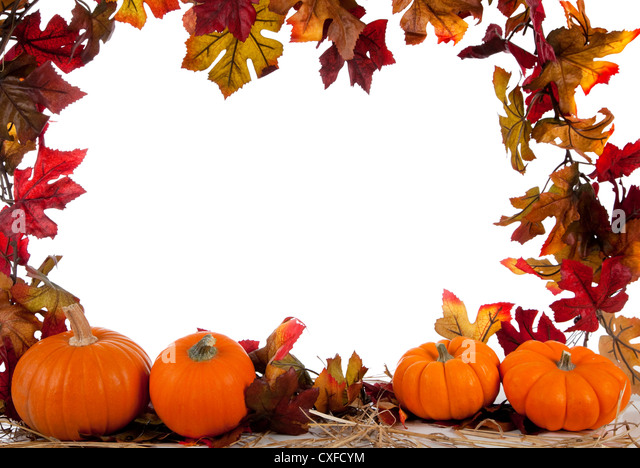 Halloween Pumpkins Holiday Border Autumn Stock Photos ...
