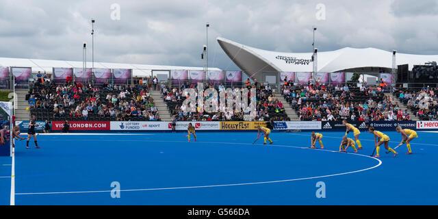 Investec Womens Hockey Champions Trophy Queen Elizabeth Olympic Park June 2016 Australia Corner