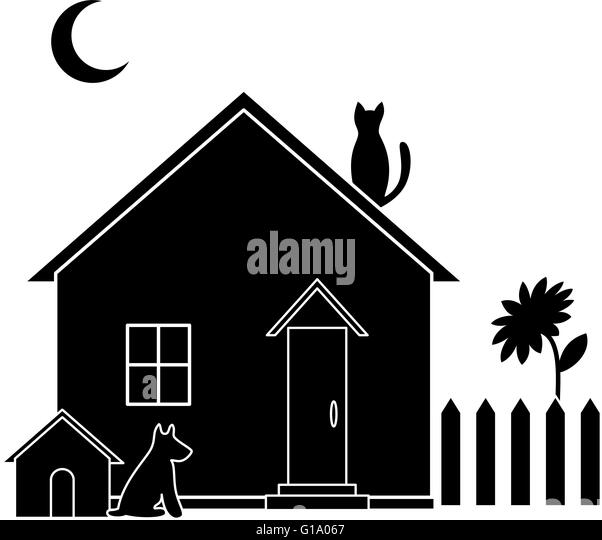 house roof outline clipart. small house silhouette stock image roof outline clipart