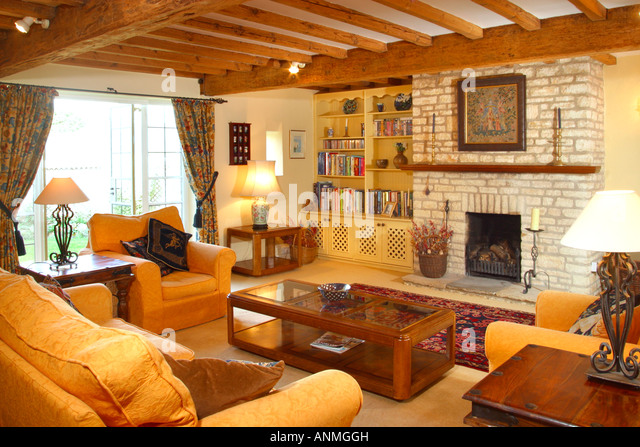 Traditional Style Living Room Interior Stock Image