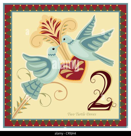 12 Days Christmas Vector Illustration Stock Photos & 12 Days ...