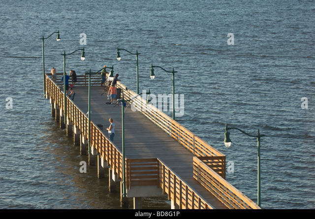 Jensen beach stock photos jensen beach stock images alamy for Fishing off a pier