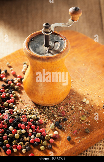 Grinding pepper stock photos grinding pepper stock for Alpine cuisine meat grinder