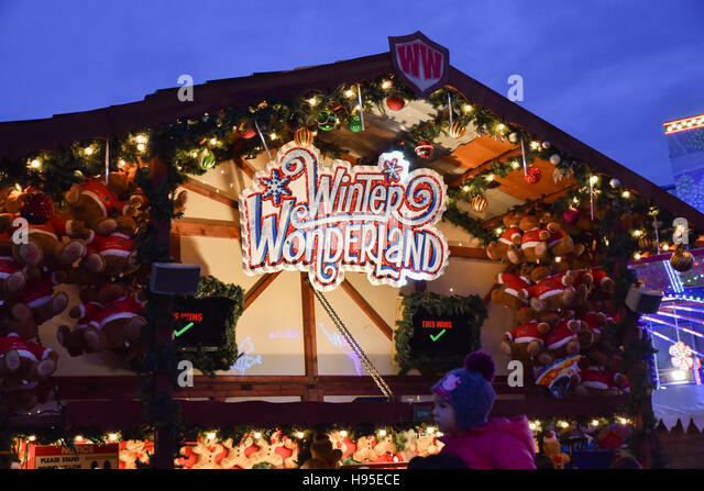 Winter Wonderland Hyde Park Stock Photos Winter Wonderland - Winter wonderland london map 2016