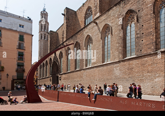 Barcelona Cathedral Santa Maria Del Mar Stock Photos ...