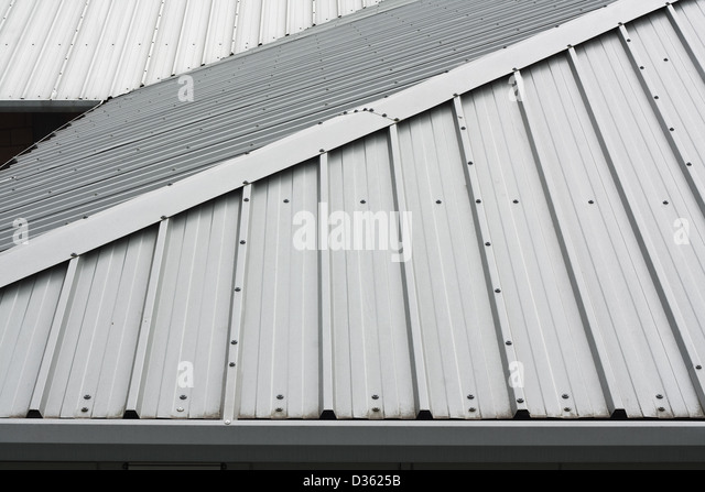 Metal sheet roofing stock photos metal sheet roofing for Modern metal roof