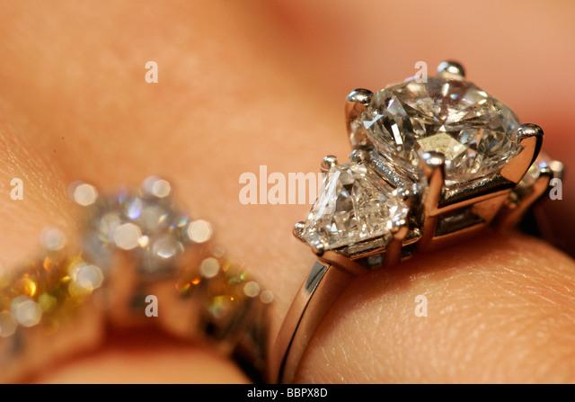 Diamond Rings Diamonds Amsterdam Netherlands Stock Photos Diamond