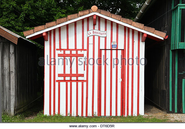 Huts In Port Of Biganos In Arcachon Bay, France   Stock Image