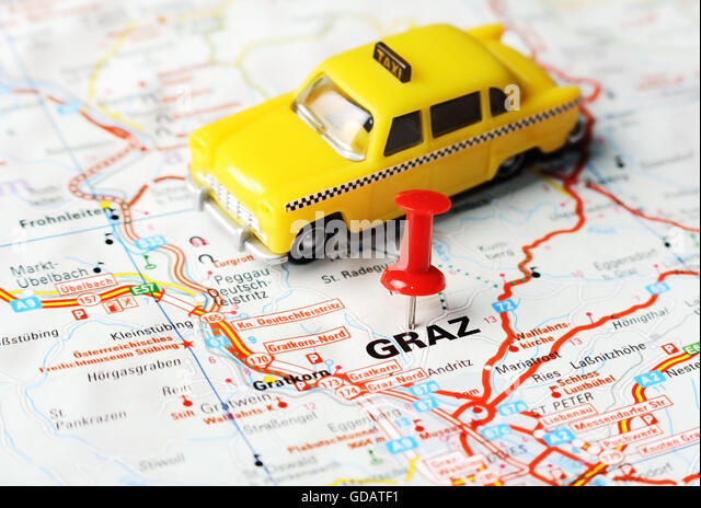 Close Up Graz Austria Map Stock Photos Close Up Graz Austria Map - Graz austria map