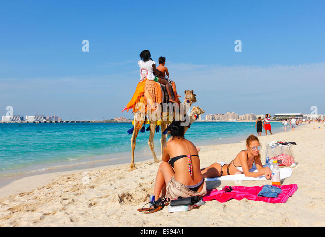 Dubai Beach Jumeirah Beach Stock Image