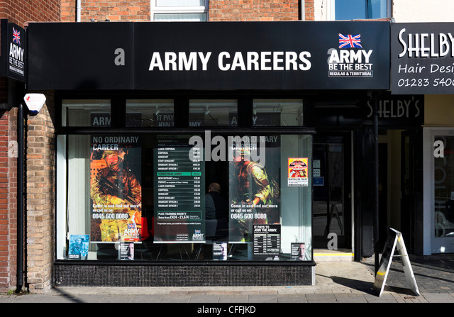 Army Careers office in the town centre, Burton-upon-Trent ...