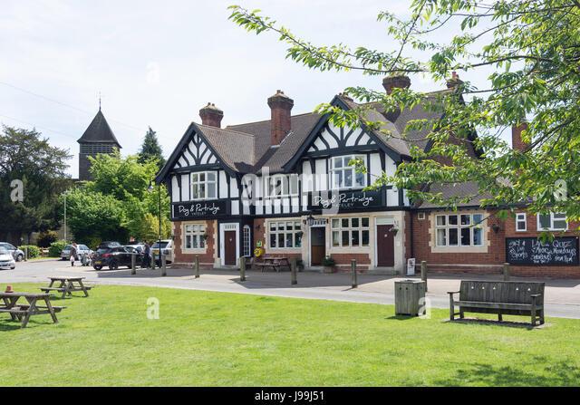 Dog Parteridge Pub The Green Yateley Hampshire England United Kingdom