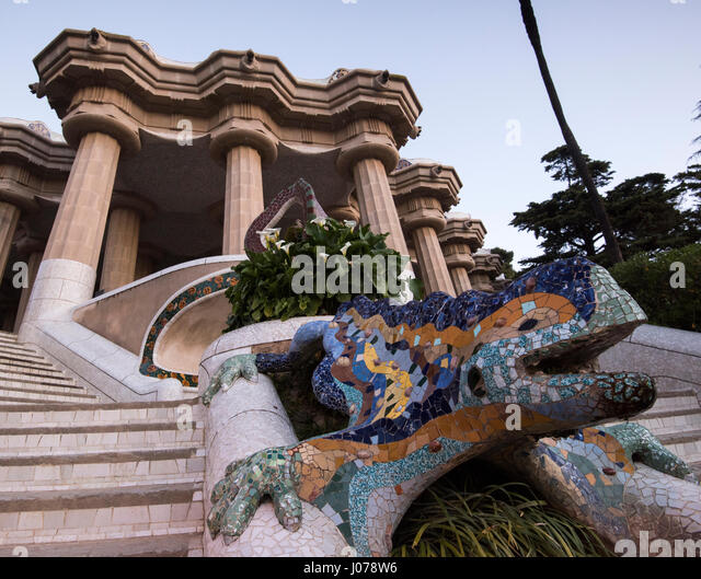 Antoni gaudi salamander stock photos antoni gaudi for Salamandra barcelona