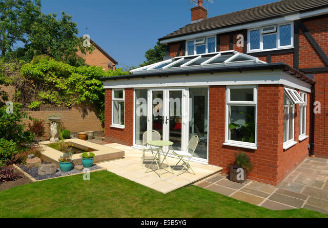 Patio doors garden stock photos patio doors garden stock for Conservatory doors exterior