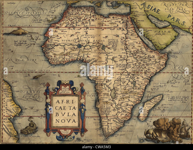 1570 Map Of Africa By Abraham Ortelius Map Shows Place