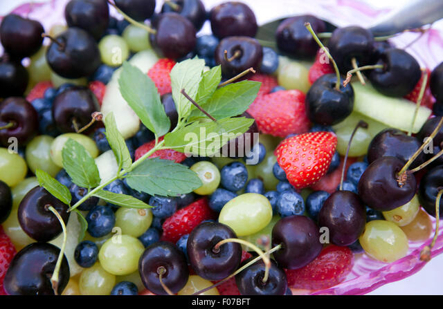 Blackcurrants And Bowl Stock Photos & Blackcurrants And ...
