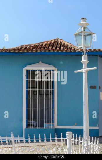 Cuba sancti spiritus province trinidad stock photos cuba for Traditional american architecture