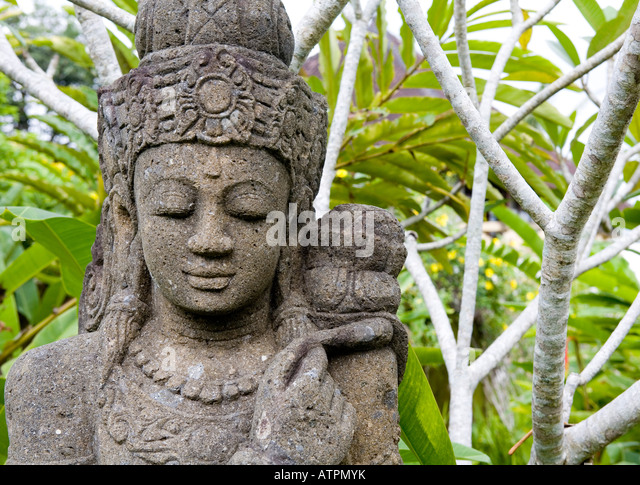 Indonesia bali ubud stone carving stock photos