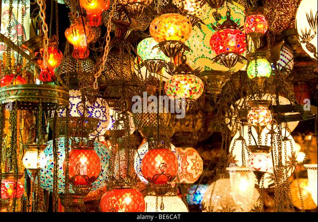 turkish style lighting. turkish lamps grand bazaar istanbul turkey stock image style lighting