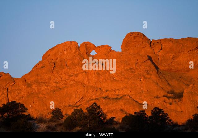 camels garden. Kissing Camels, Garden Of The Gods At Sunrise. - Stock Image Camels E