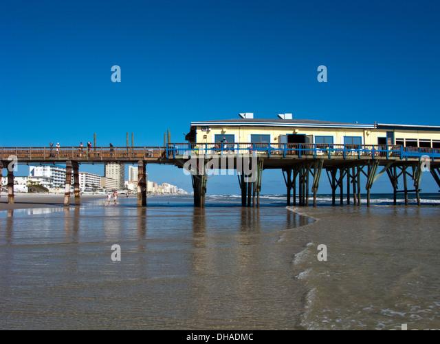 Daytona beach shores stock photos daytona beach shores for Daytona beach fishing pier