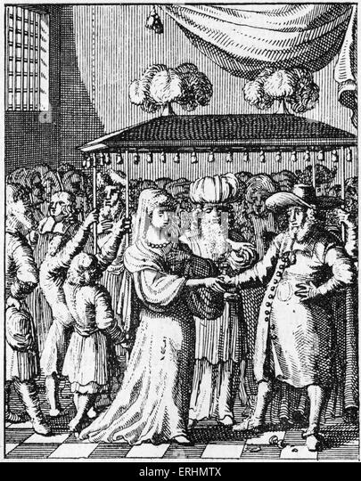 Jewish marriage under wedding canopy From book published in Utrecht 1657 - Stock Image  sc 1 st  Alamy & Jewish Wedding Canopy Stock Photos u0026 Jewish Wedding Canopy Stock ...