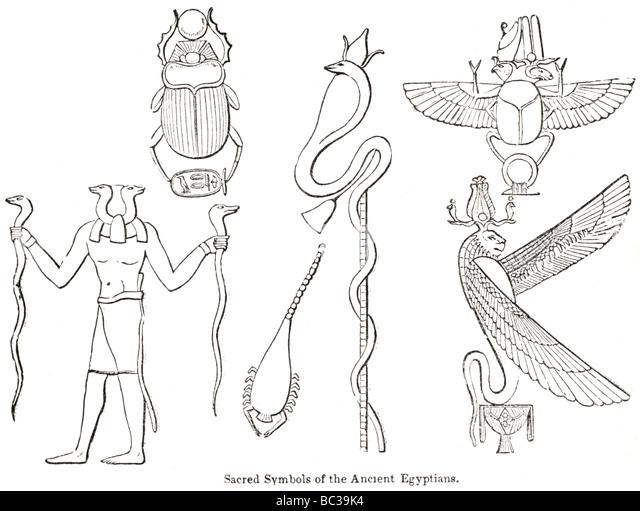 Sacred Symbols Ancient Egyptians Stock Photos Sacred Symbols