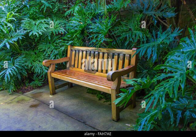 Bench In Sunken Gardens In Stock Photos Bench In Sunken Gardens In Stock Images Alamy