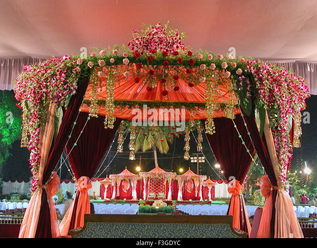 Weddingdecoration stock photos weddingdecoration stock images view of a wedding decoration india stock image junglespirit Choice Image