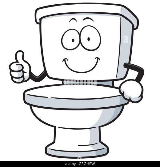 Vector Illustration of Cartoon toilet   Stock Image. Toilet Vector Vectors Stock Photos   Toilet Vector Vectors Stock