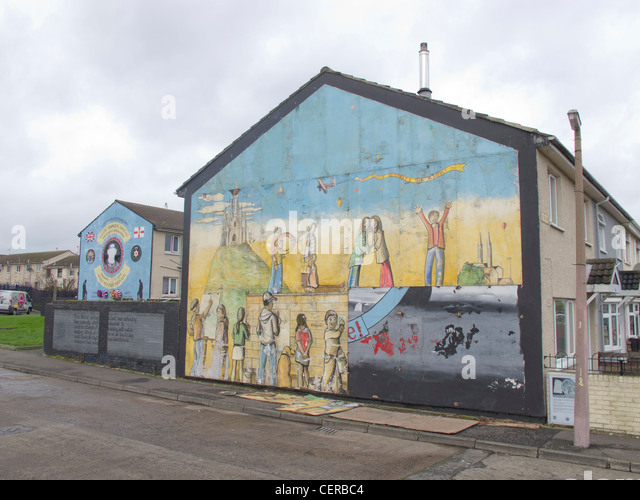 Loyalist mural belfast stock photos loyalist mural for Mural belfast