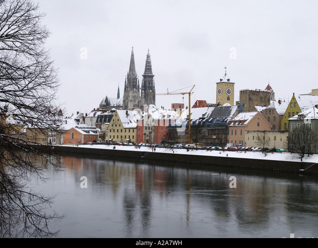 regensburg winter stockfotos regensburg winter bilder alamy. Black Bedroom Furniture Sets. Home Design Ideas