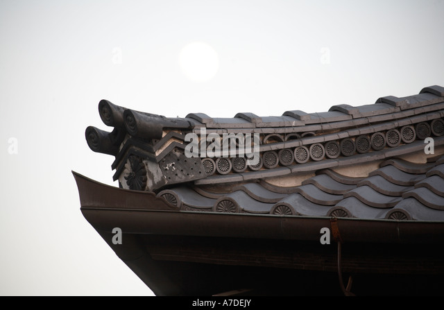 Roof tiles japanese castle japan stockfotos roof tiles for Japanisches dach