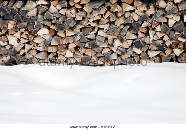 woodpile winter stockfotos woodpile winter bilder alamy. Black Bedroom Furniture Sets. Home Design Ideas