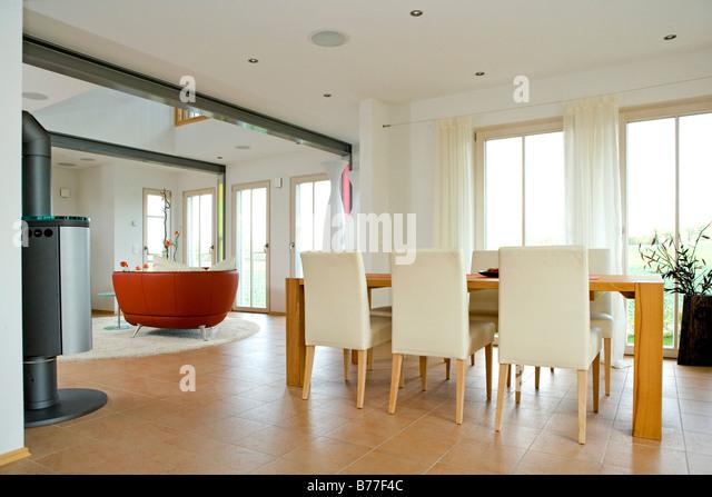 Modernes Esszimmer, Moderne Esszimmer Stockbild