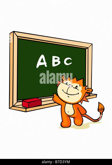 Tafel schreiben clipart  Vector Illustration Tiger Cartoon Stockfotos & Vector Illustration ...
