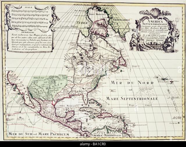 Groß Farbige Karte Von Nordamerika Galerie - Dokumentationsvorlage ...